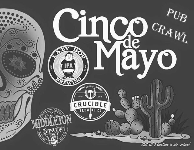 It's almost time for another South Everett Pub Crawl! Come visit us, @cruciblebrewing (Everett) & @lazyboybrewing this Saturday.