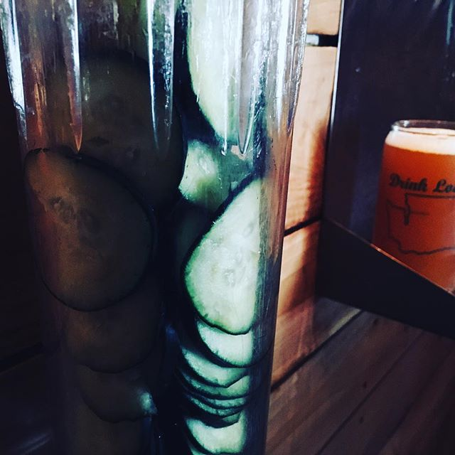 Semper Fi (honey blonde ale) is on Randall today, being infused with fresh cucumbers.