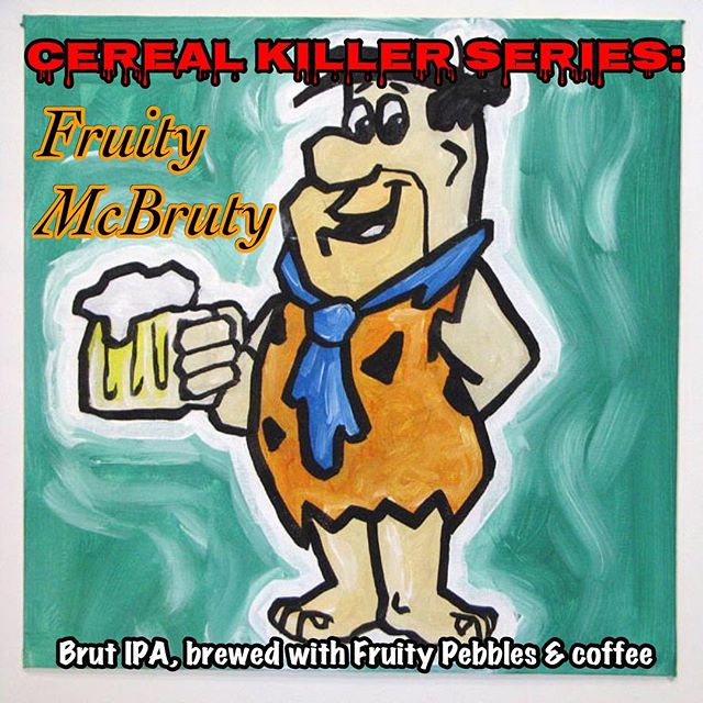 It's almost time for the June edition of our Cereal Killer Series! #cerealkillerseries #middletonbrewing_wa #drinklocaleverett #fruitypebbles #brutipa