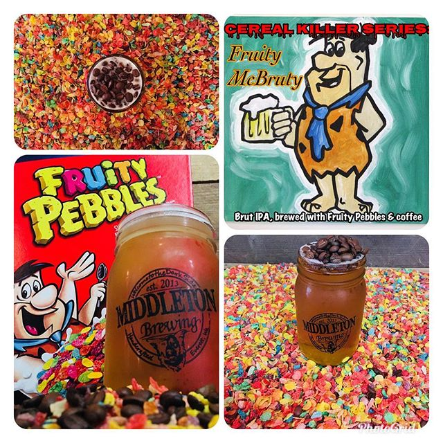 Cereal Killer Series release: Thurs (6/28) @togglesbottleshop  Fri (6/29) at Middleton Brewing  #cerealkillerseries #drinklocaleverett #middletonbrewing_wa #fruitypebbles