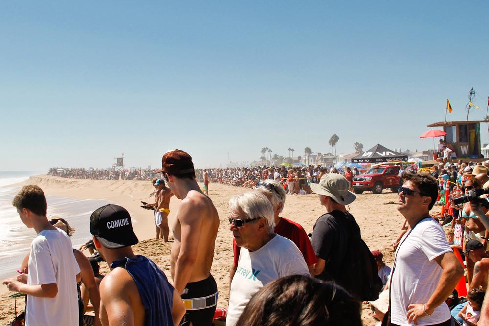 No shortage of crowds.