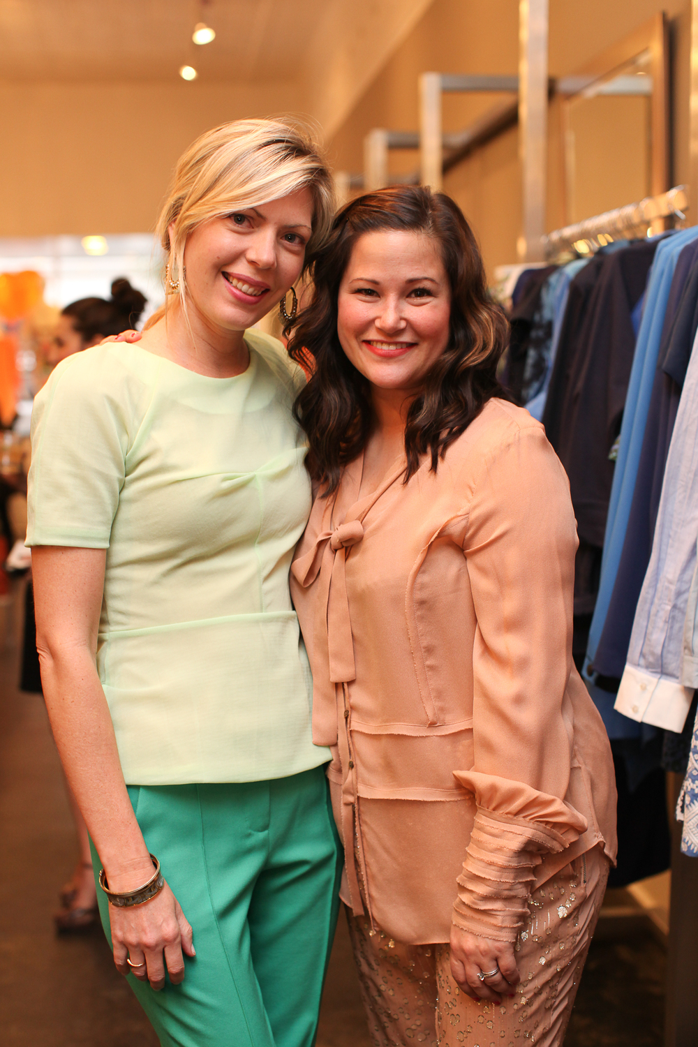 Jackie Thomson of Leapfrog PR and Stacy Smallwood of Hampden Clothing.