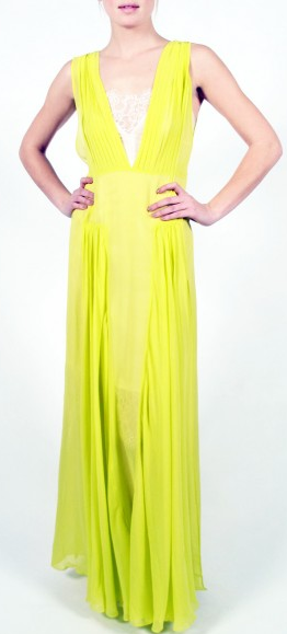 Nadra Acid Yellow Gown from By Malene Birger
