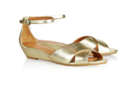 Marc by Marc Jacobs metallic leather wedge sandals for day