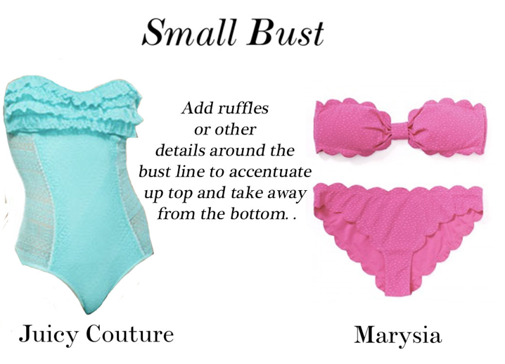 1.  Juice Couture Ruffle Bandeau Maillot Swimsuit                                                       2.  Marysia Grand Bikini