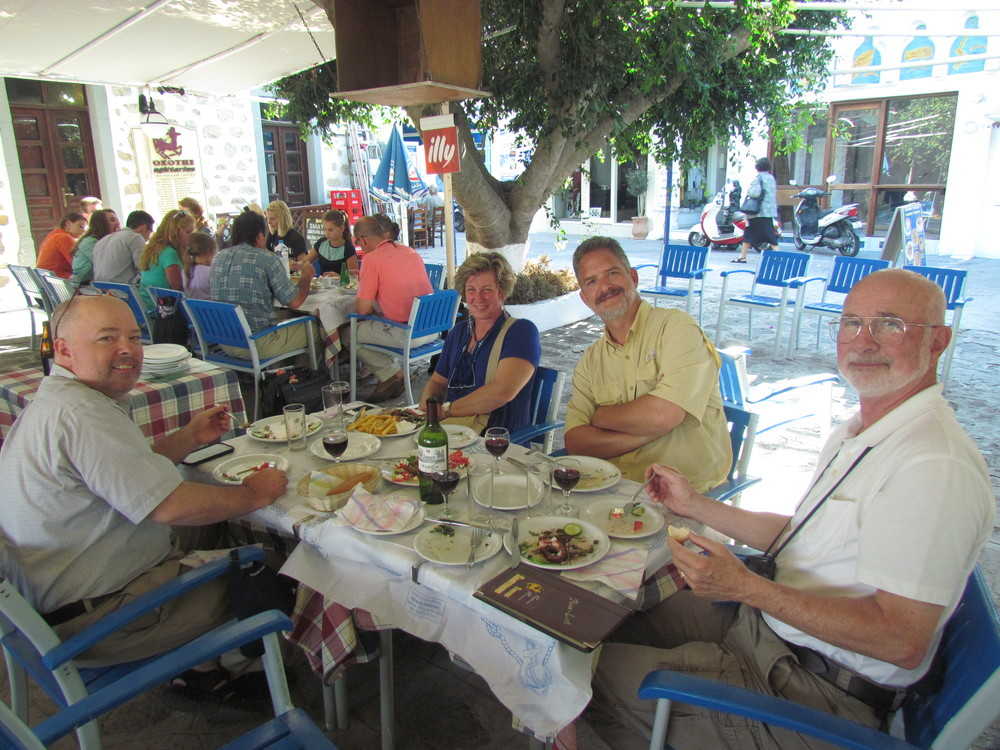 Lunch with Dad & friends in Patmos