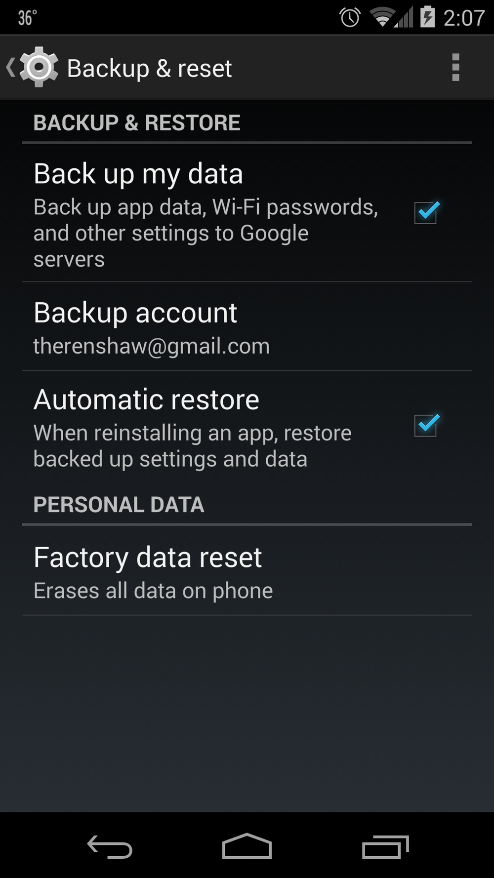 ProTechCoach Android Backup Setting Screen.png