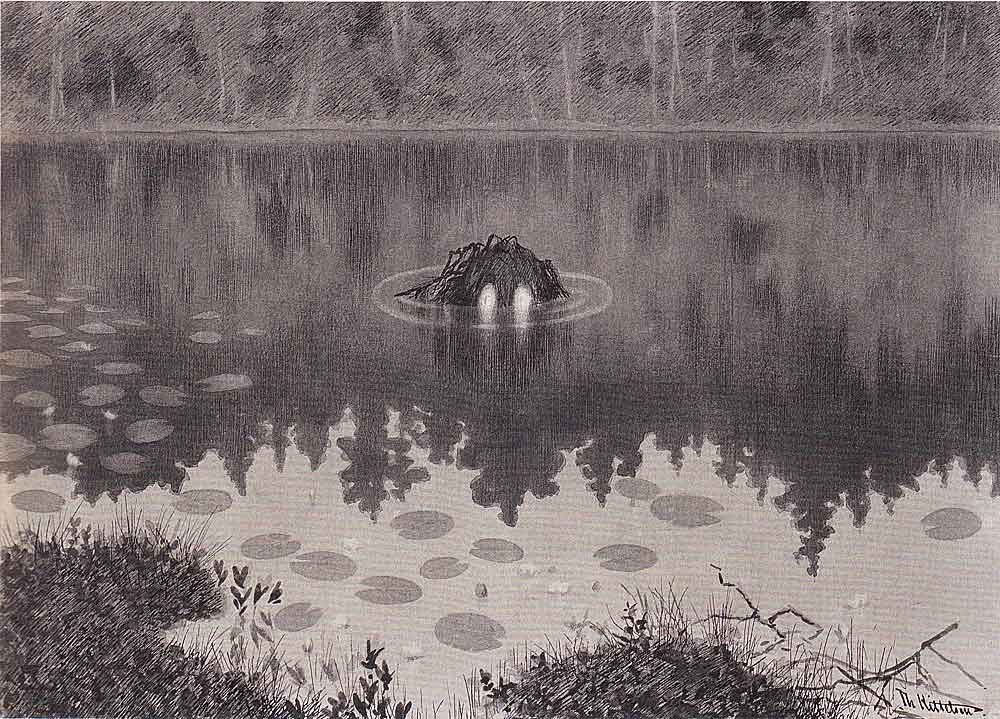 Theodor Kitteln ,  Nøkken , (1887-1892) [Not in the exhibition]