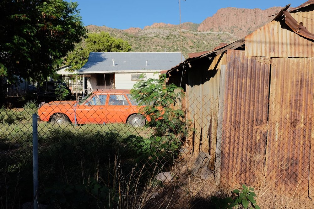 Vibrant and vintage orange Ford Pinto Wagon - Superior, Arizona