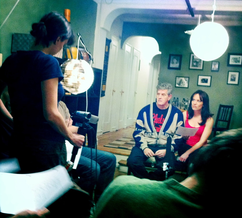 "Directing a scene from ""Then we got HELP!"" with Sam McMurray and Renee Colvert."