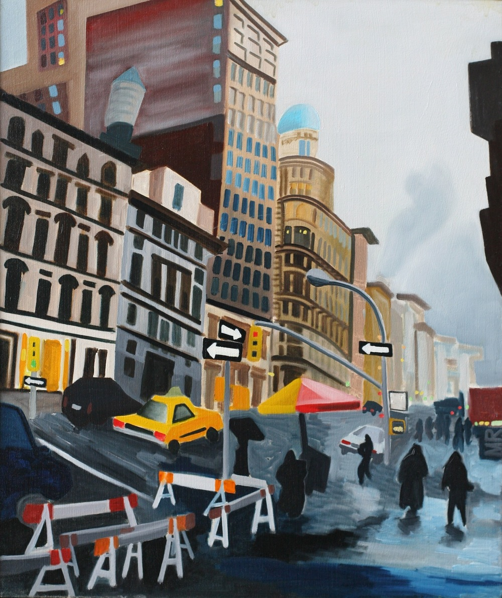 "21st Street - oil on canvas - 25"" x 30"""