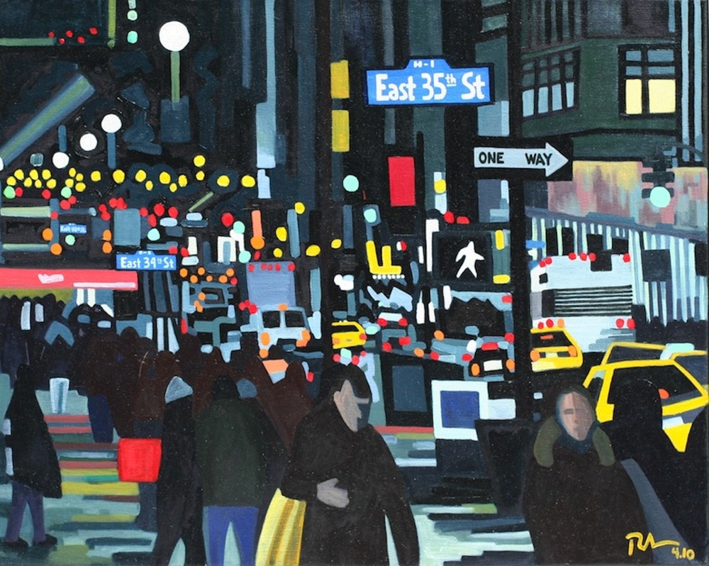 "City Lights - oil on linen - 24"" x 30"" - 2010"