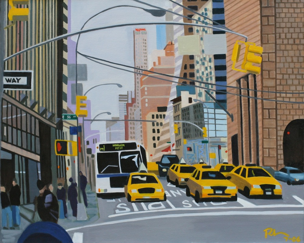 "56th & Madison - oil on canvas - 24"" x 30"" - 2006"