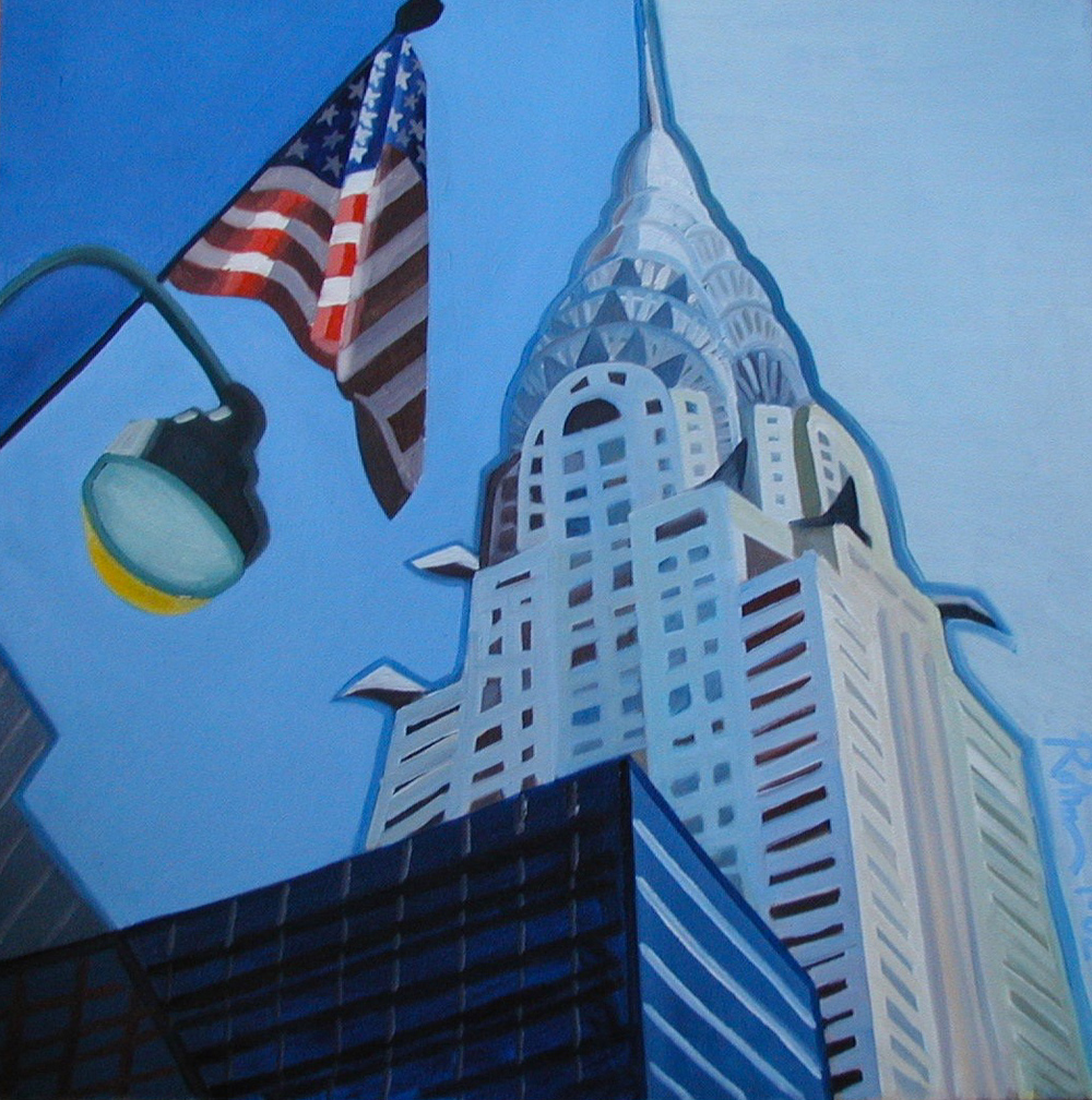 "Chrysler Building - oil on canvas - 25"" x 25"" - 2002"