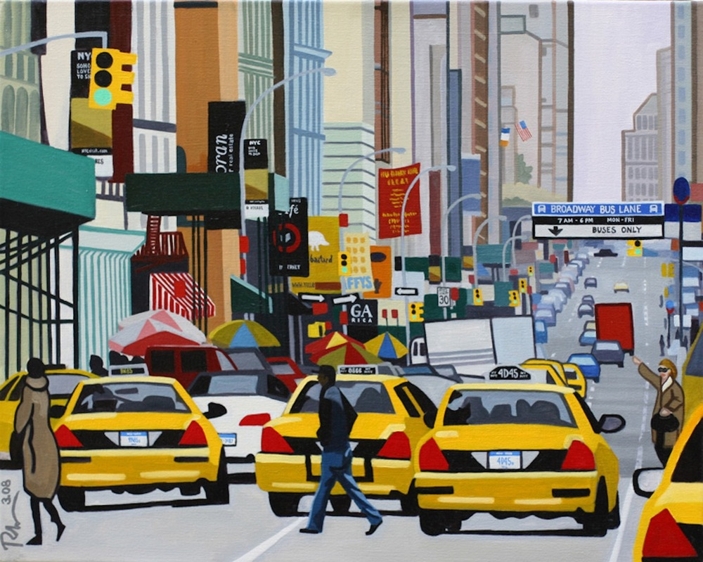"W Broadway, Soho - oil on canvas - 24"" x 30"" - 2008"