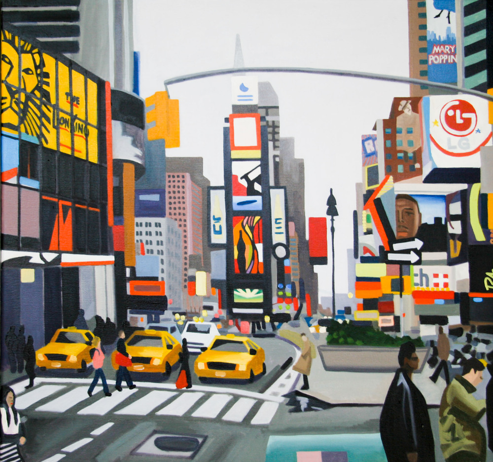 "Times Square - oil on canvas - 26"" x 28"" - 2006"