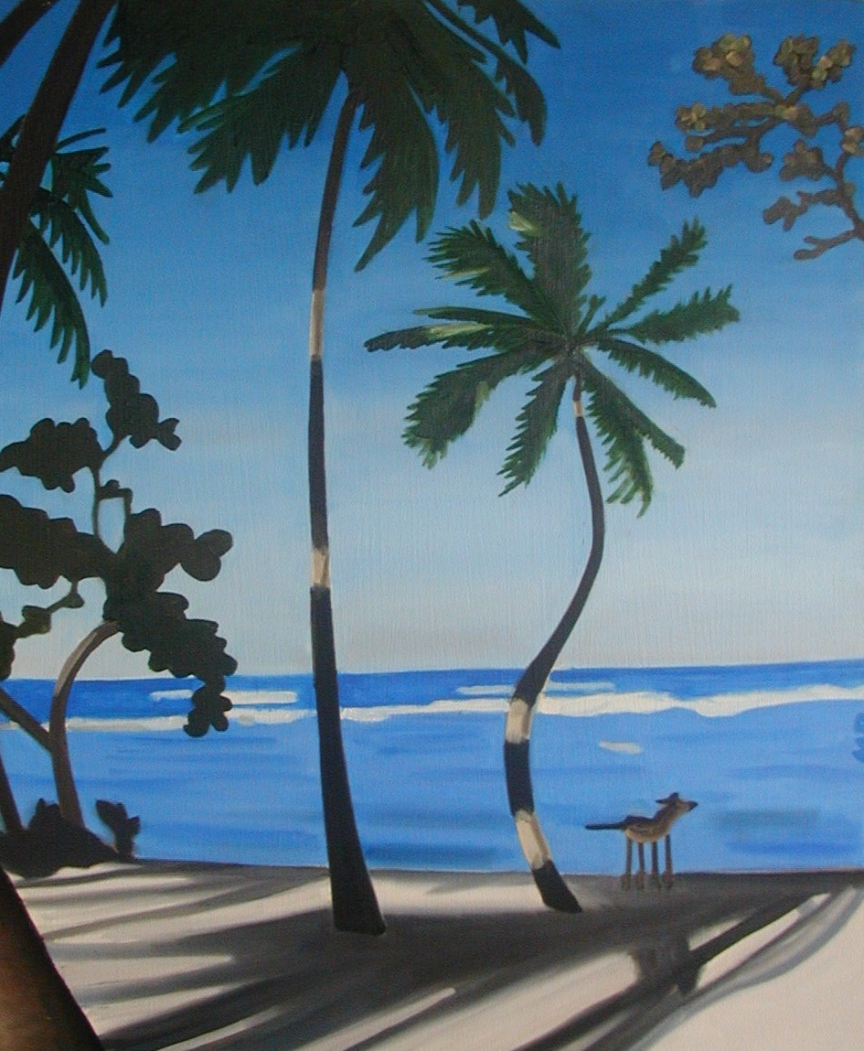 "Dog in the Domincan - oil on canvas - 30"" x 25"" - 2002"