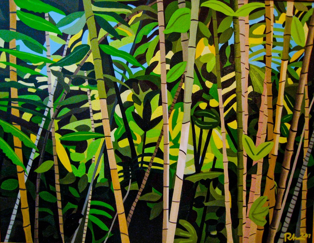 "Bamboo forest - oil on canvas - 46"" x 60"" - 2007"