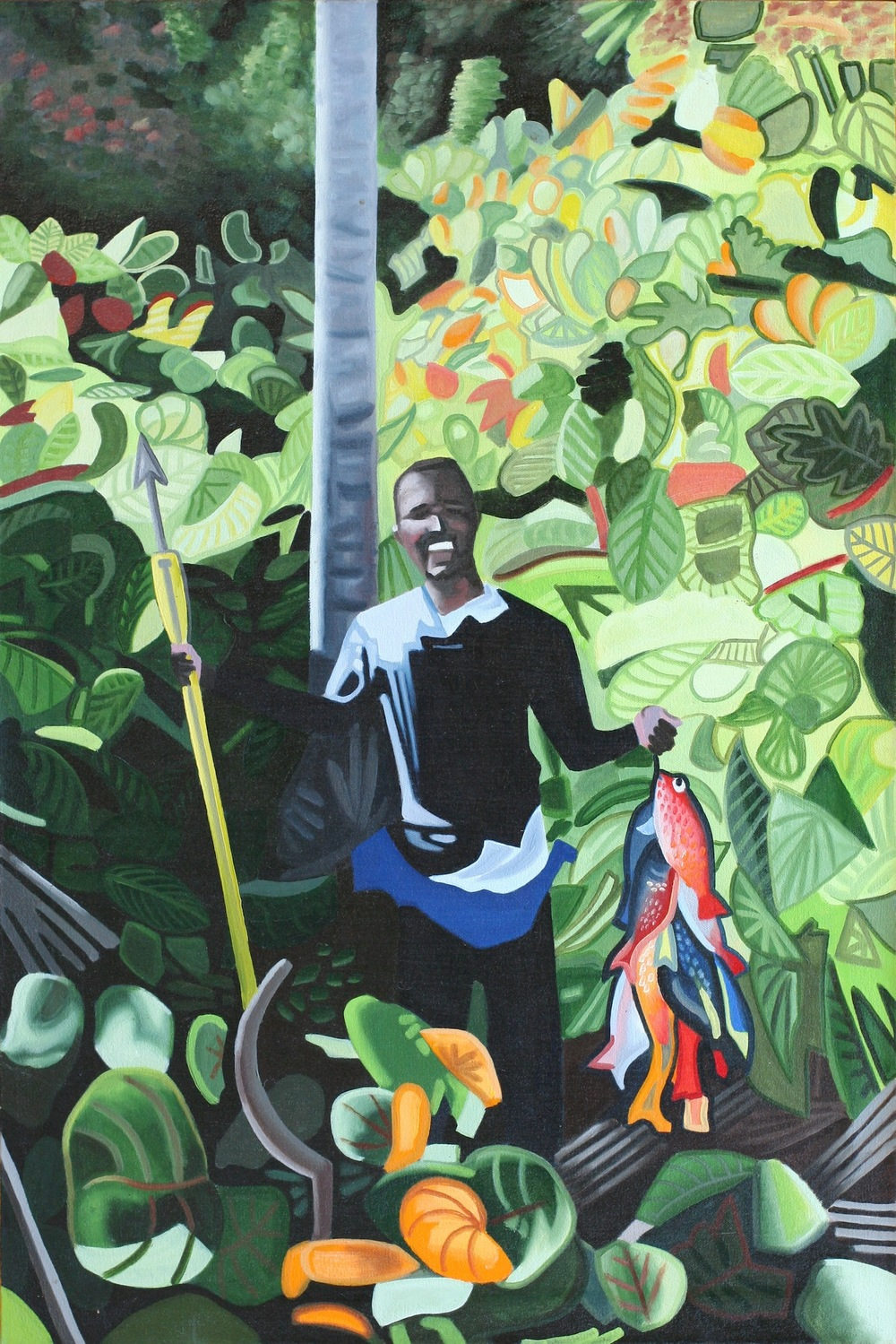 "Self-employed - oil on canvas - 36"" x 25"" - 2002"