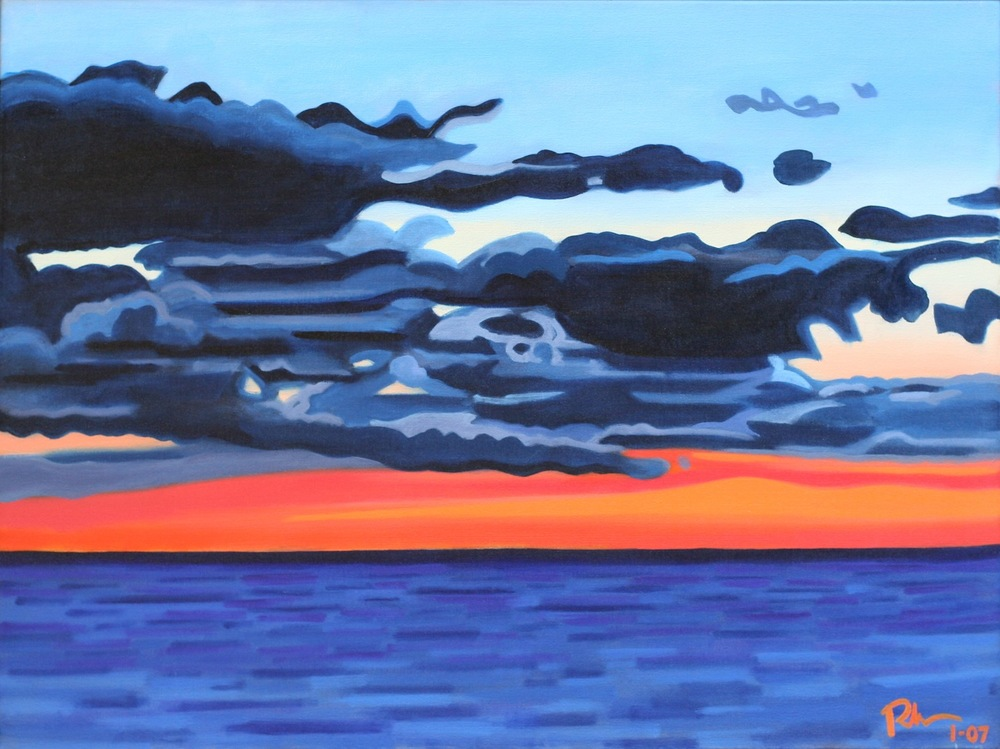 "Montauk Sunset - oil on canvas - 24"" x 32"" - 2007"