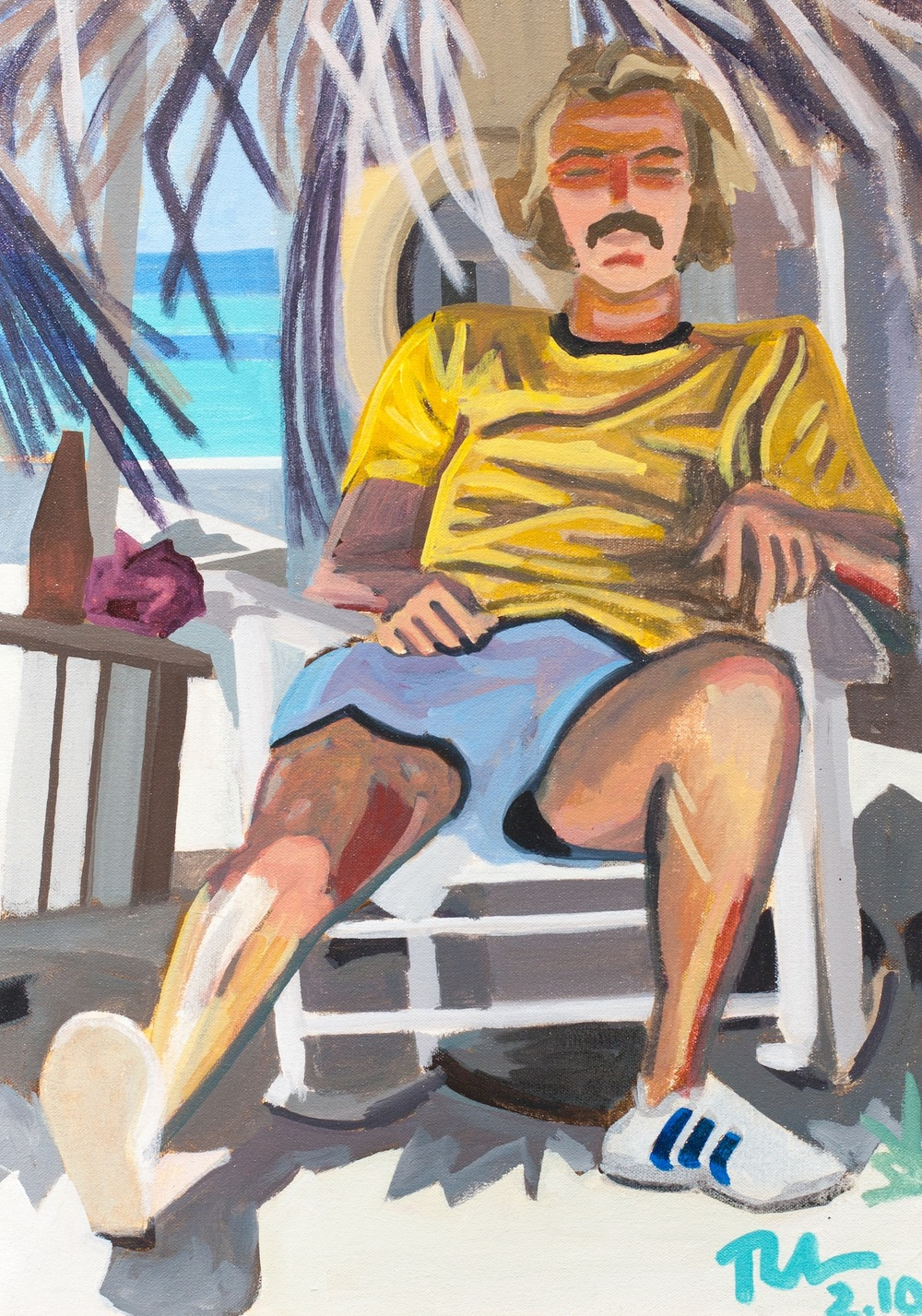 "Jimmy Buffet - acyrlic on canvas - 20"" x 12"" - 2010"