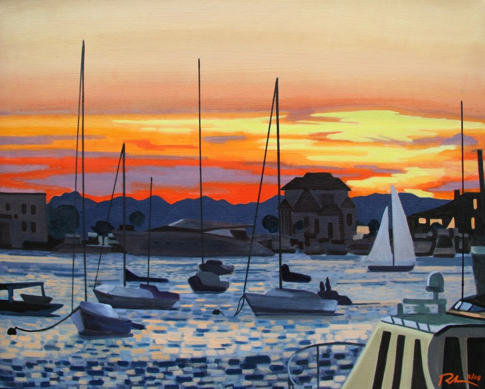 "Newport R.I. - oil on canvas - 24"" x 30"" - 2005"