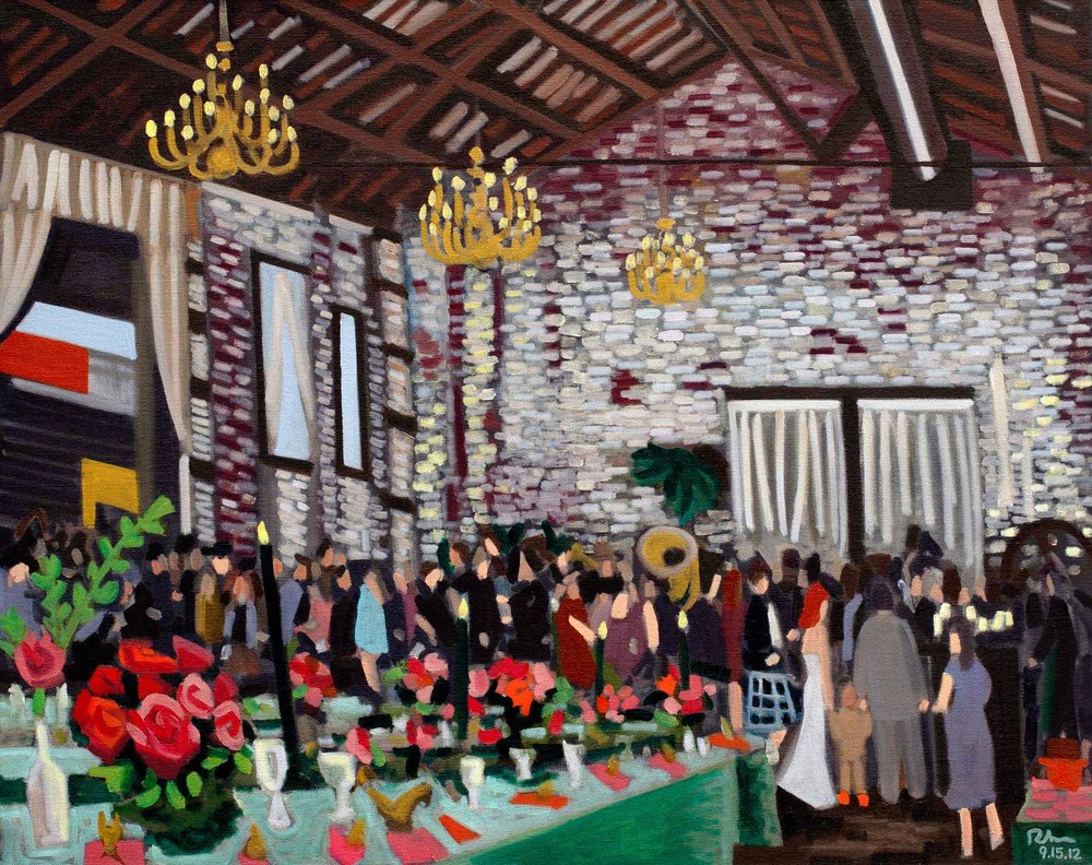 "Brooklyn Wedding - oil on linen - 24"" x 30"" - 2012"