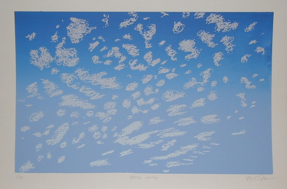 "Clouds - 16"" x 23"" (framed) - edition of 17"
