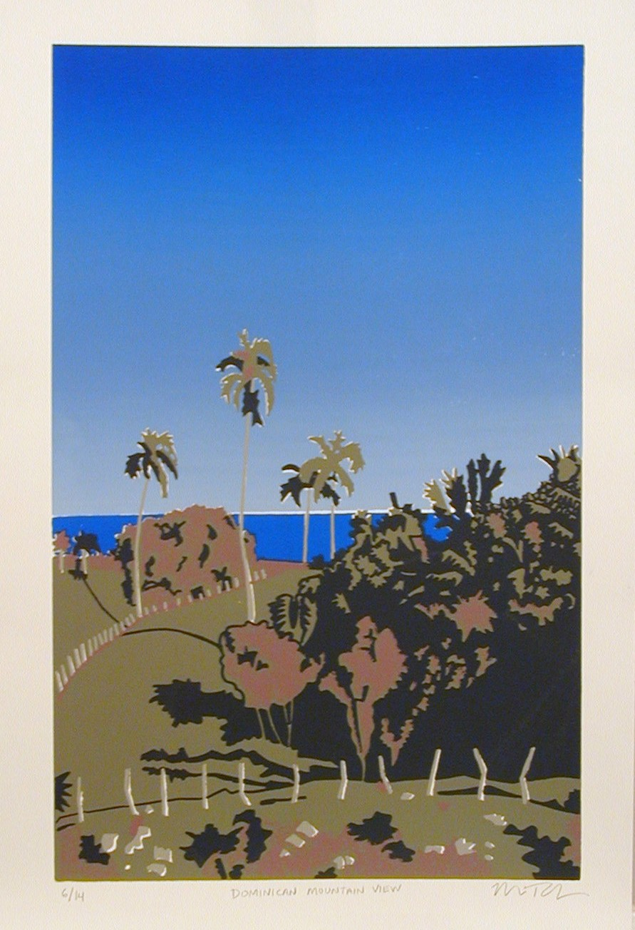 "Dominican View - 23"" x 16"" (framed) - edition of 14"