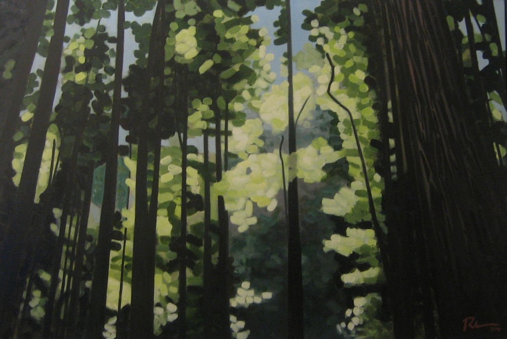 "Muir Woods - oil on canvas - 48"" x 72"" - 2005"