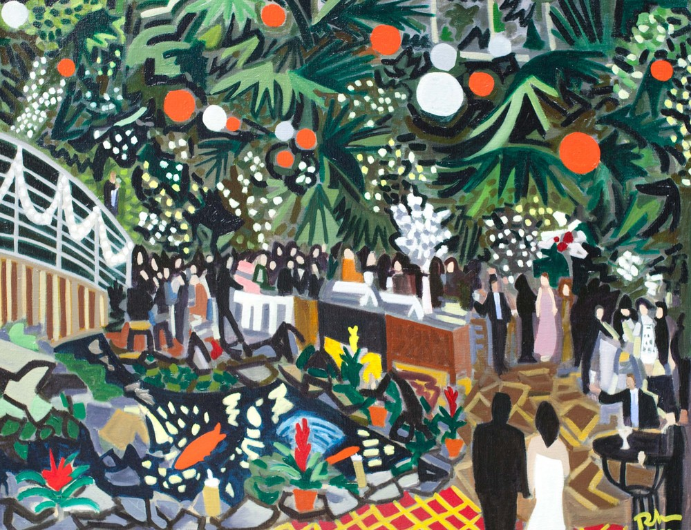 "Long Island Wedding - oil on canvas - 24"" x 30"" - 2011"