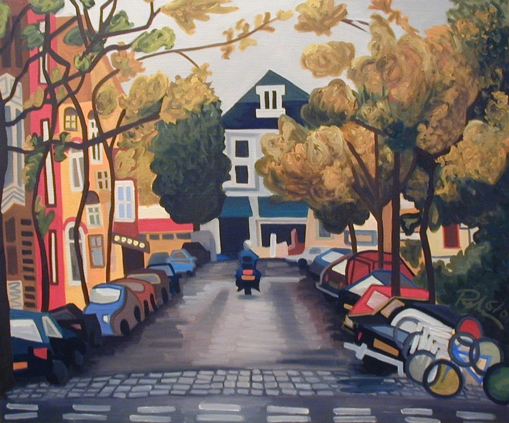 "Amsterdam - oil on canvas - 25"" x 30"" - 2001"