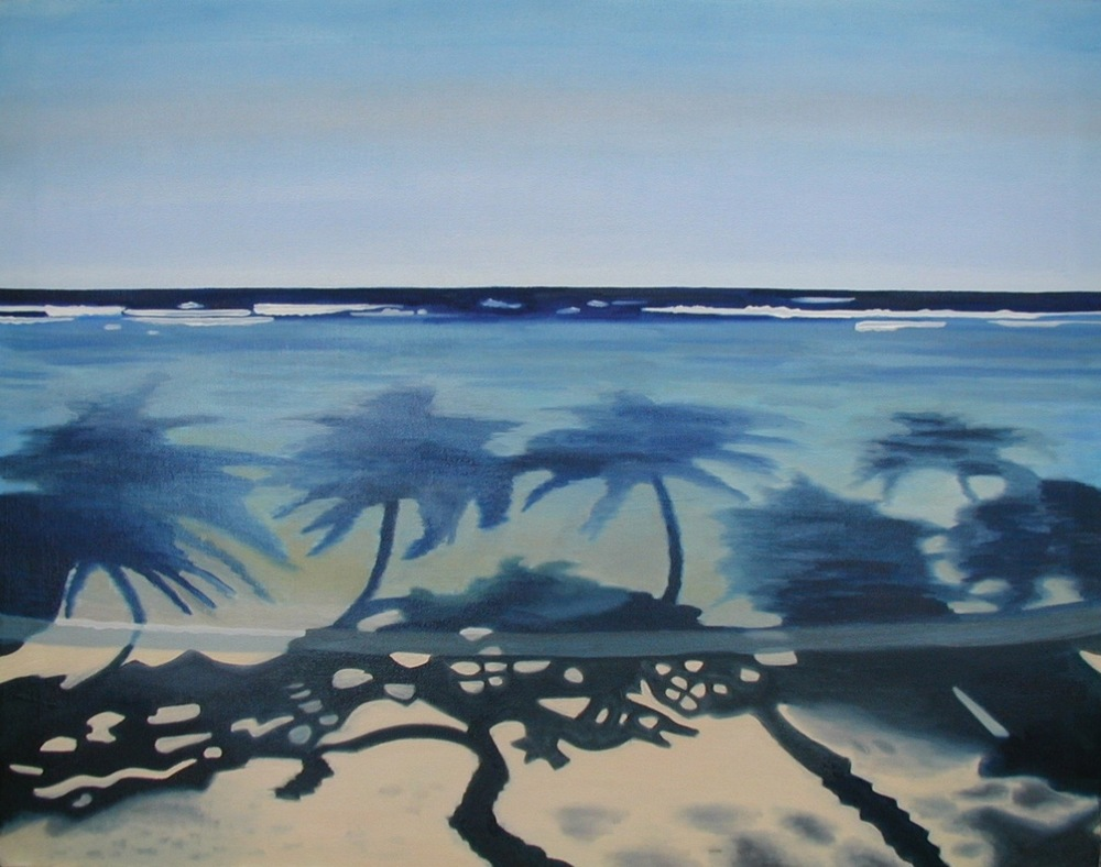 """Shadows - oil on canvas - 28"""" x 36"""" - 2002"""