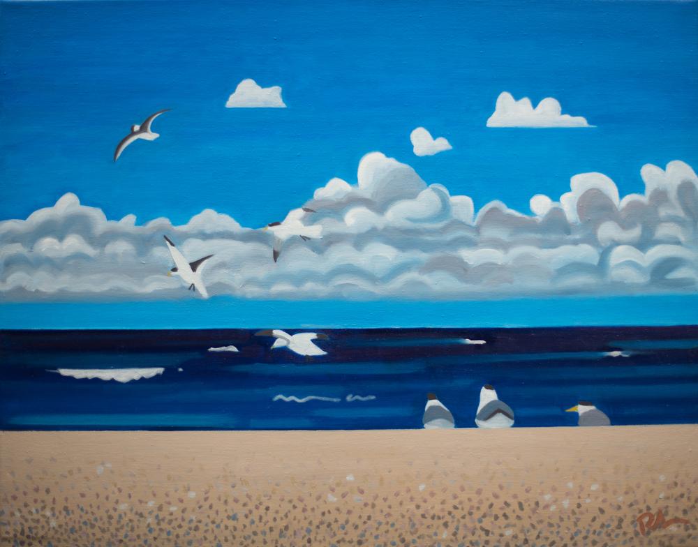 """Snow Birds - Oil on Linen - 24""""x 30"""""""