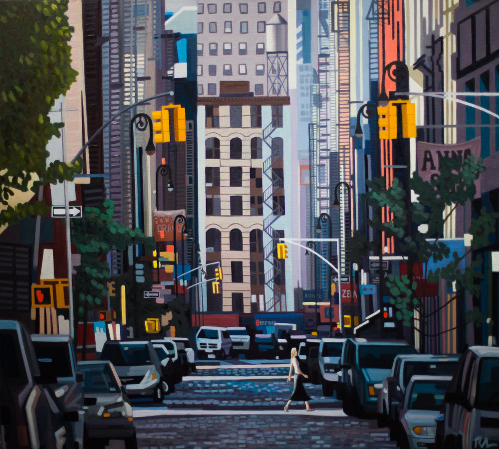 "Soho Sunday Morning - 36"" x 40"" - oil on linen"