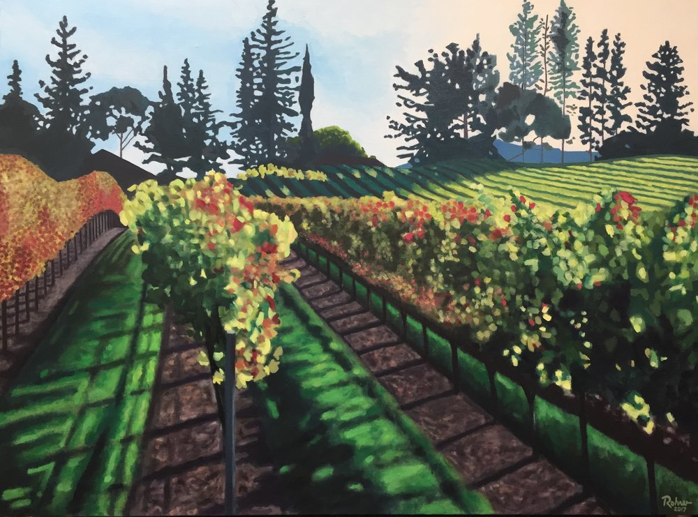 "Stuhlmuller Vineyards, Sonoma Valley - 30"" x 40"" - oil on linen - 2017"