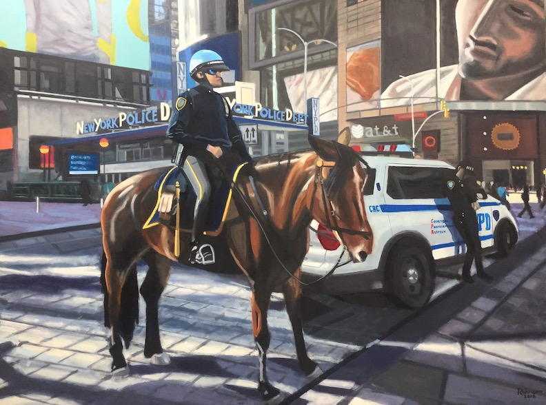 "NYPD Times Square - Oil on Linen - 30"" x 40"""