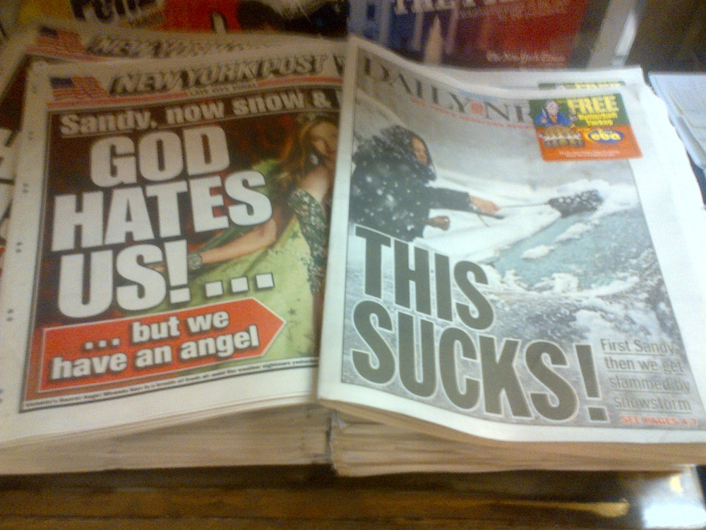 Tabloids Capture the City Mood Perfectly