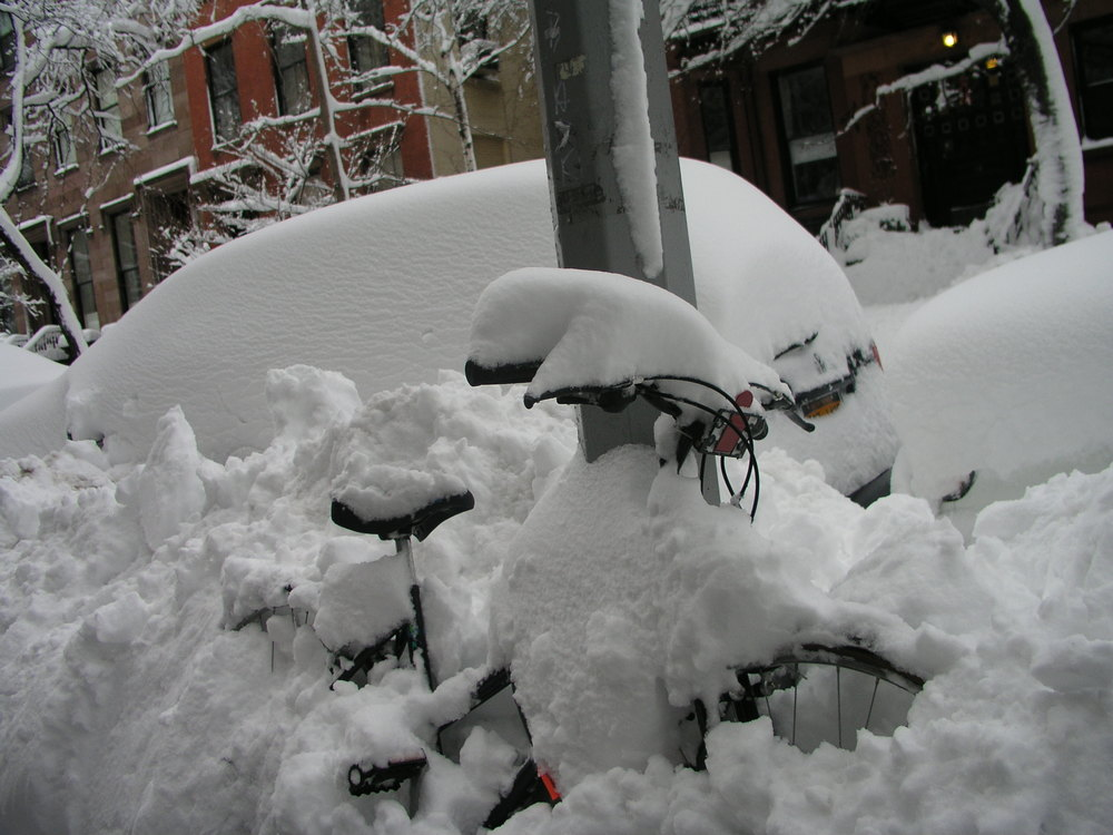 Snow bound Bike
