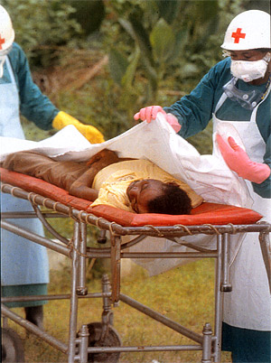 Control of Ebola in Kikwit also involved removing ailing patients from their families and friends to avoid contact-spread.