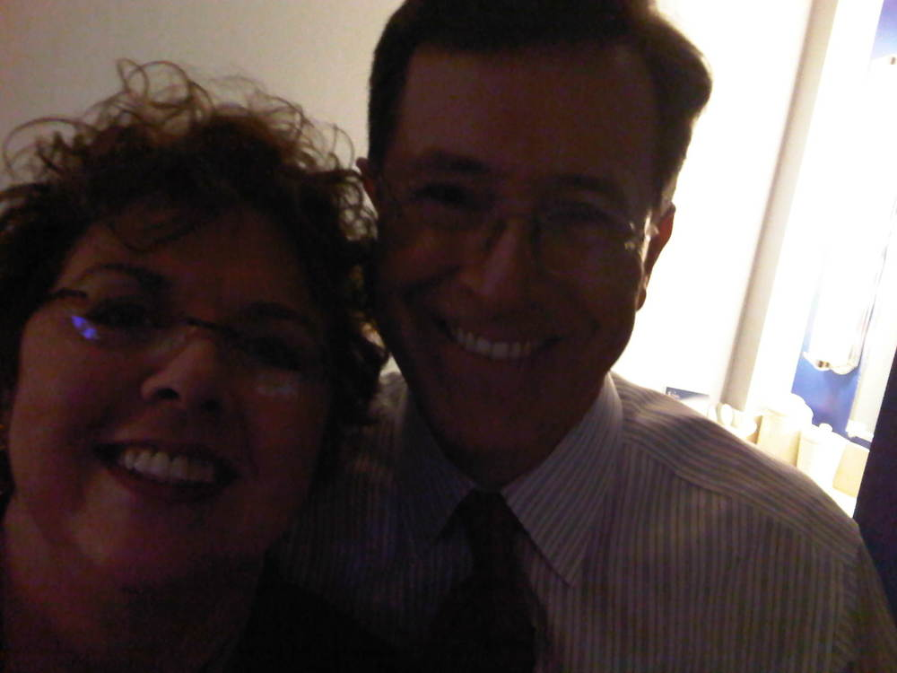 With Colbert, Goofing Around
