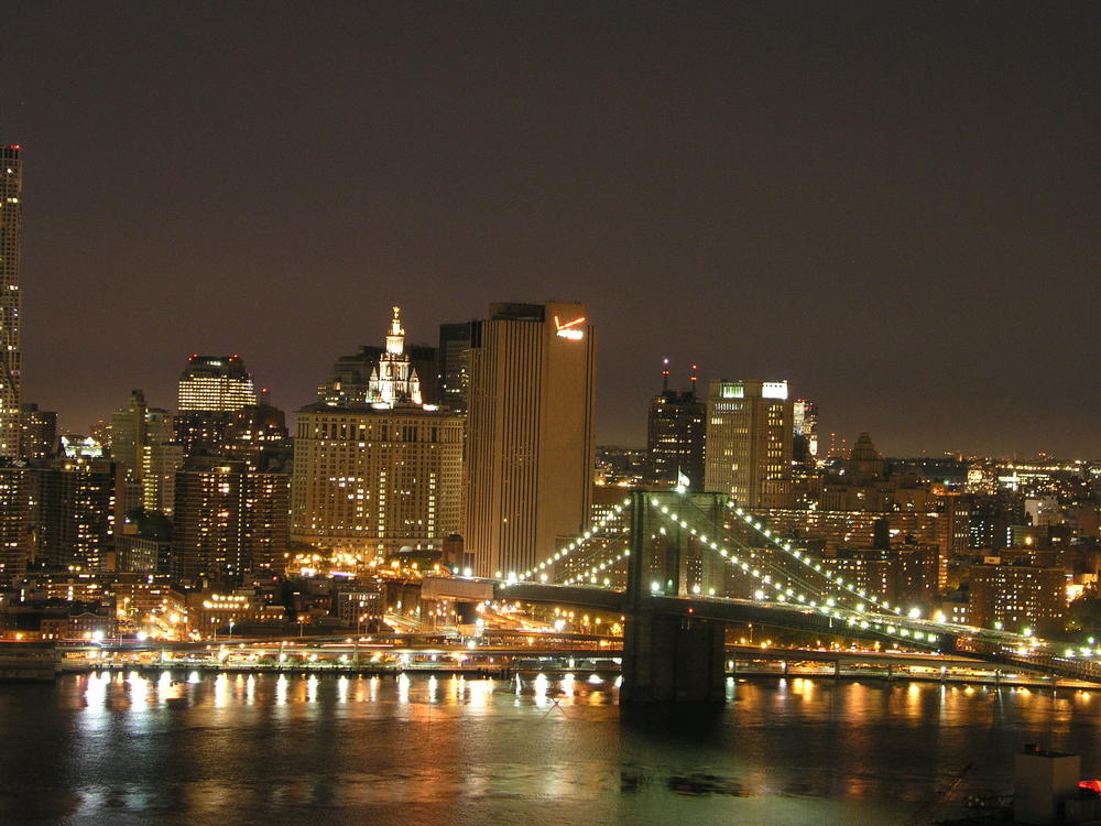 Nightime Brooklyn Bridge