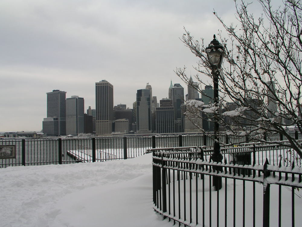 Wintry Manhattan from the Promenade