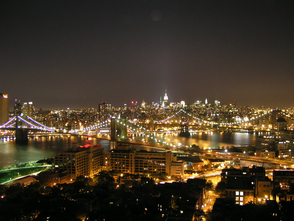 Nighttime & the East River Bridges