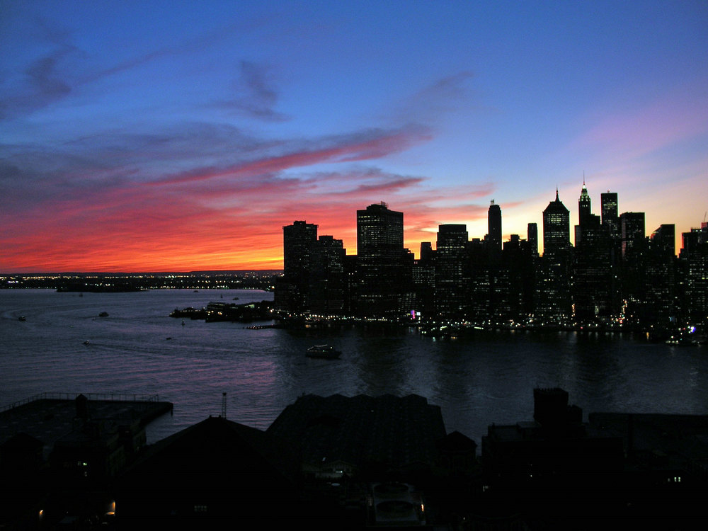 Winter Sunset Over NY Harbor
