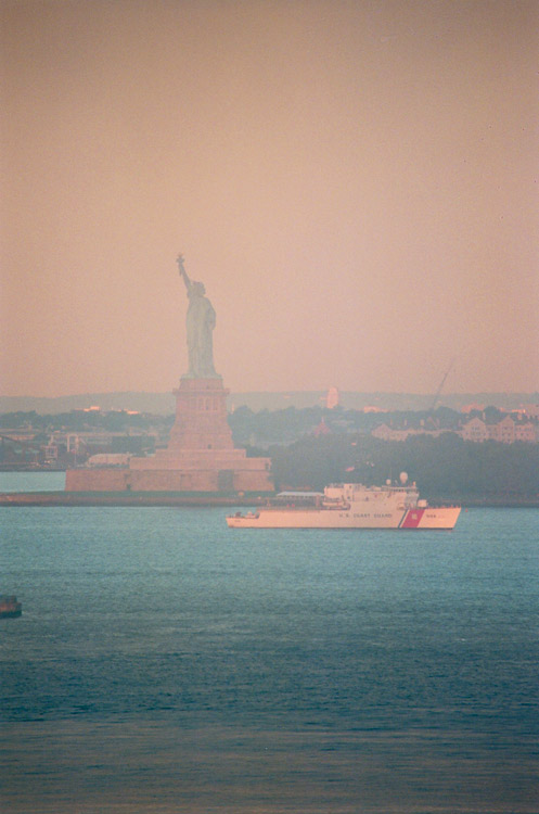 Day 2, Coast Guard and Statue of Liberty, photo by Ski Shields