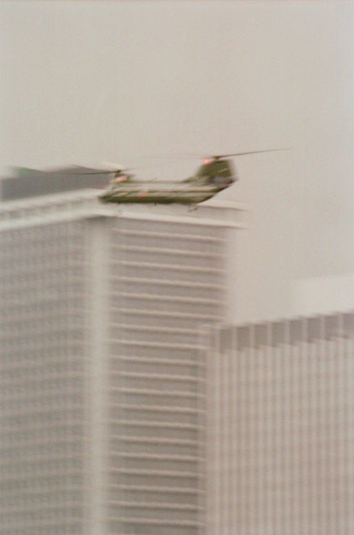 Day 4, Air Force One chopper, photo by Ski Shields