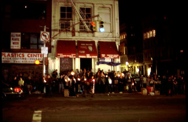 Candles in Chinatown, photo by Michael Couzens, Sept. 13