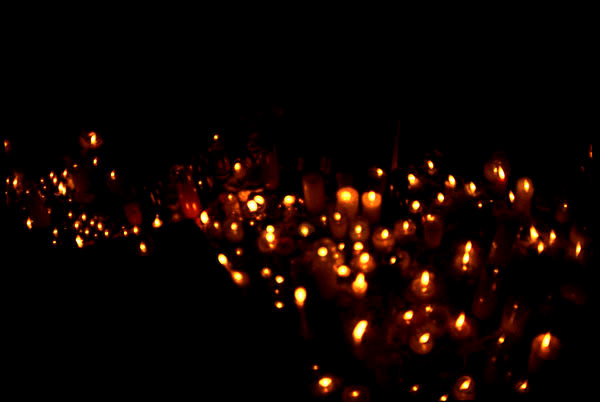 Candles in the wind, Union Square, photo by Michael Couzens, Sept. 14