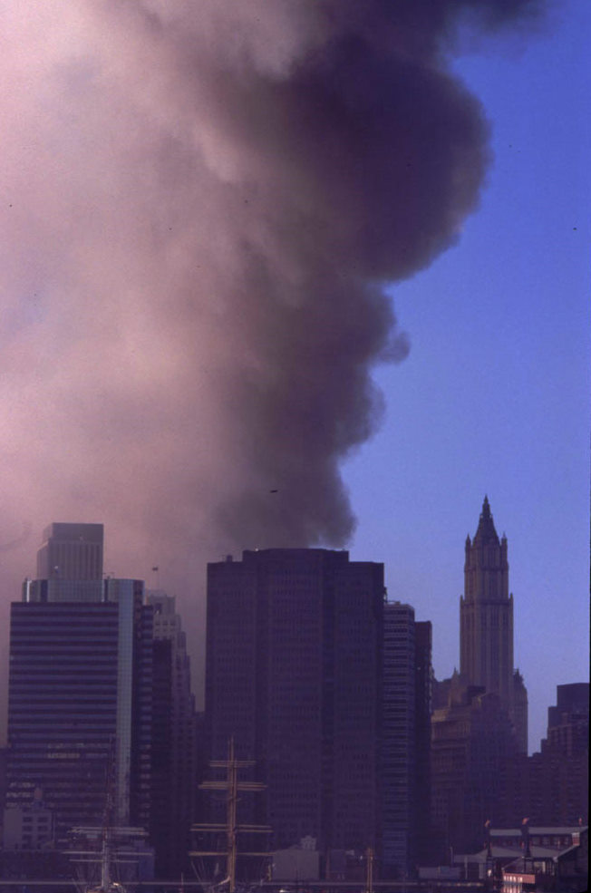 The Plume Rises on 9/11, photo by Michael Couzens